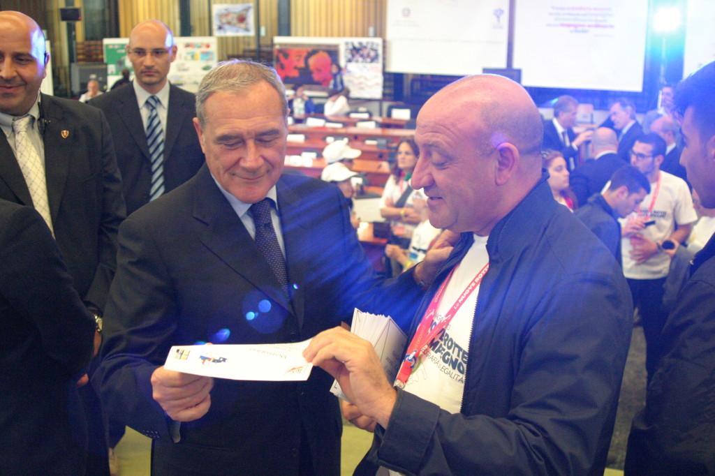 Piero Grasso Presidente del Senato - Aula Bunker 2013