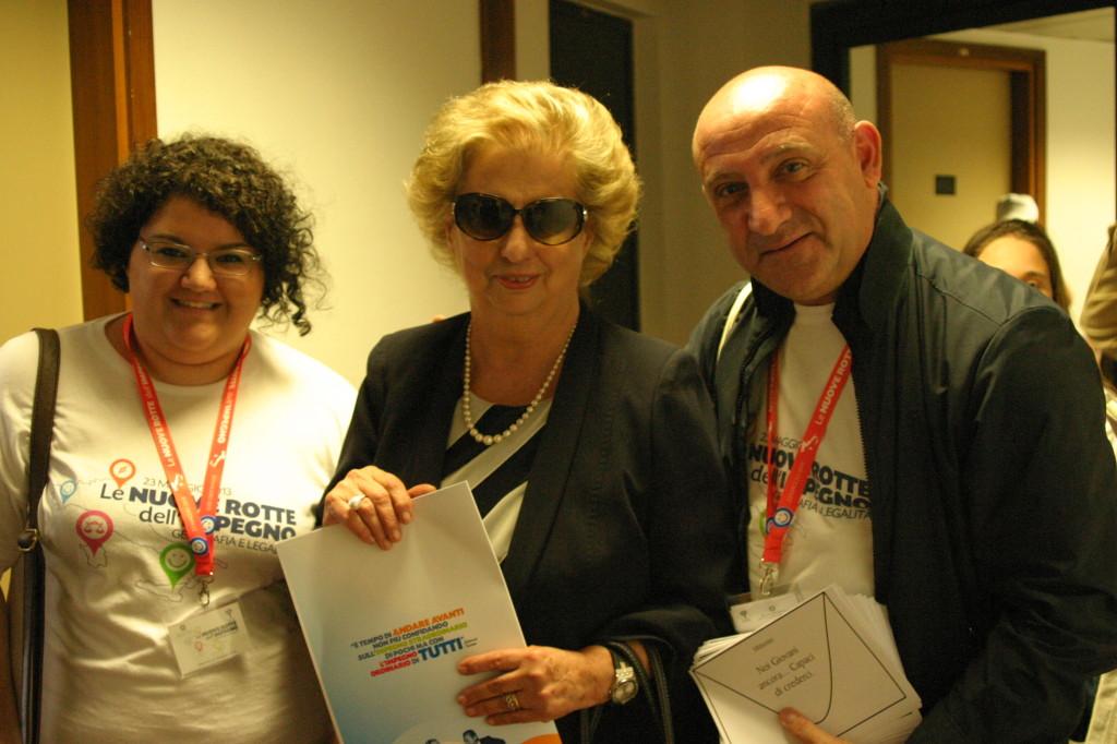 con Maria Falcone