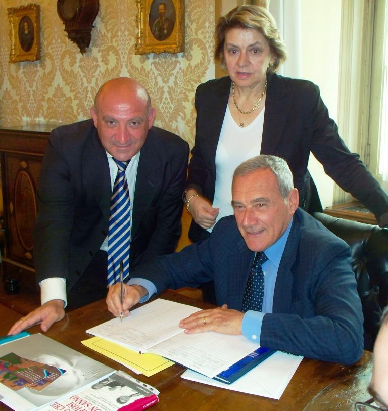 Presidente del Senato 004 Mannino Chinnici e Grasso rit rid