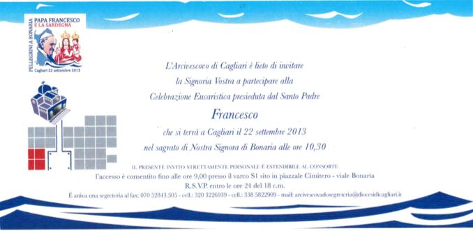 Invito Papa Francesco - Sardegna