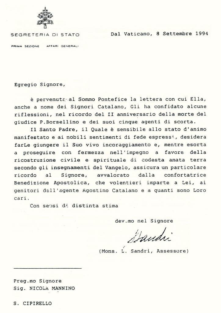 lettera del papa --0