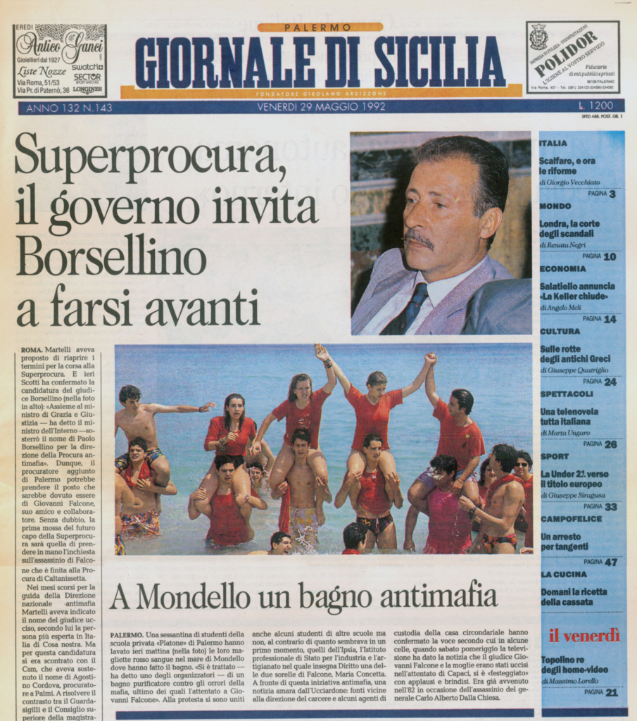 prima pagina gds 29-05-1992