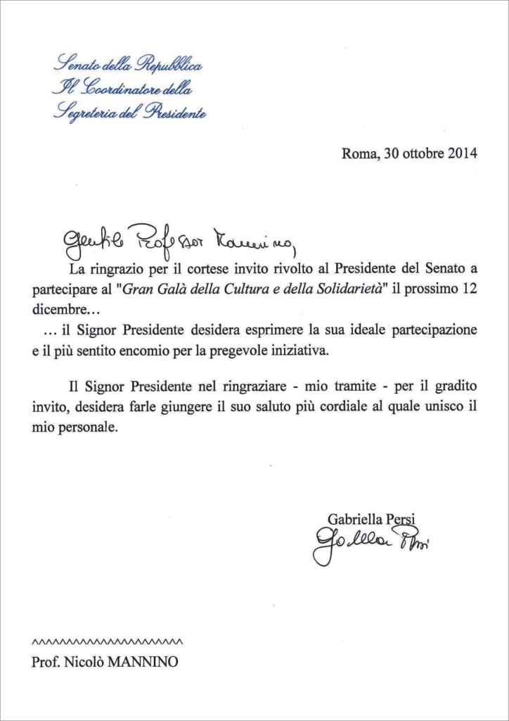 lettera senato