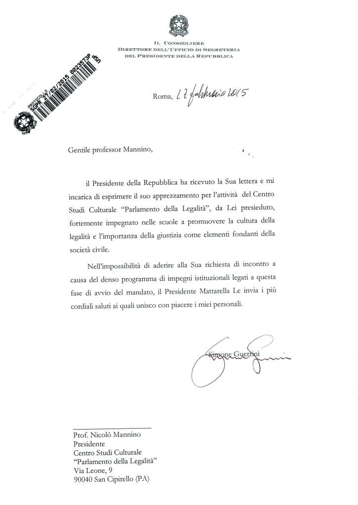 lettera presidente -
