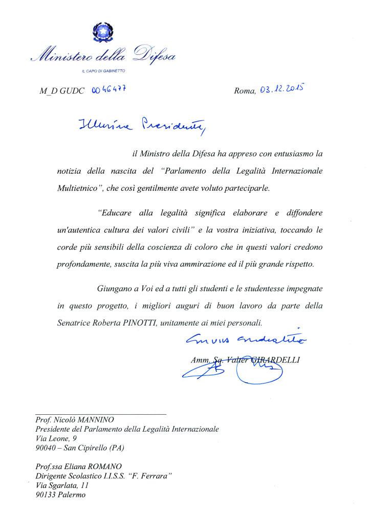 lettera Pinotti